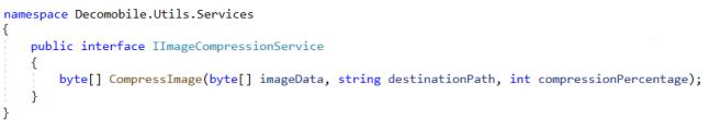 IImageCompressionService